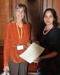 Dr Leslie Quint with Ms Lekha Potti whose poster submission was highly commended.
